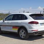Am Grün im Schriftzug erkennt man den Cayenne S E-Hybrid. Foto:  http://news2do.com