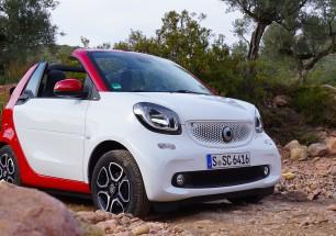 Das neue smart Cabrio Modell 2016 im Gelände. Foto: http://news2do.com