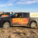 Mit dem VW Amarok durch die Kalahari. Foto: VW / http://news2do.com